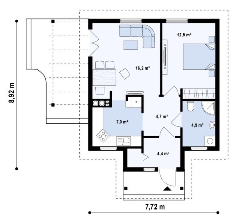 Схема проекта частного дома