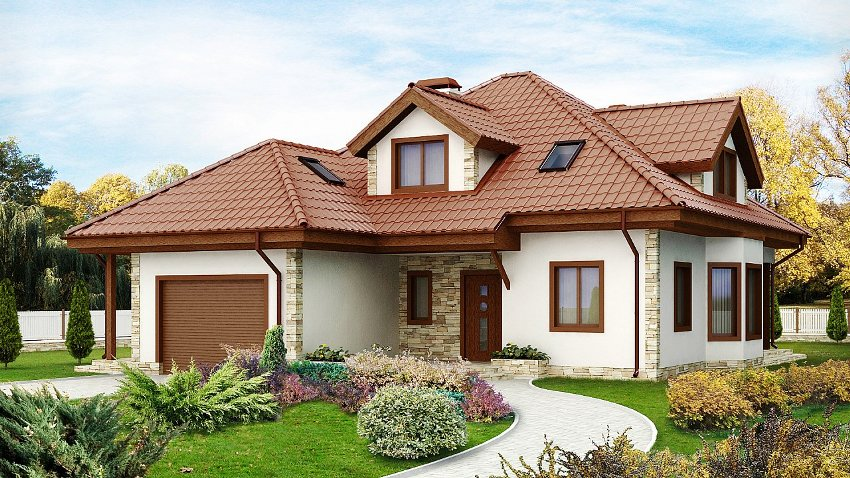 Простота архитектурных форм дома позволит дополнительно сократить расходы на строительство