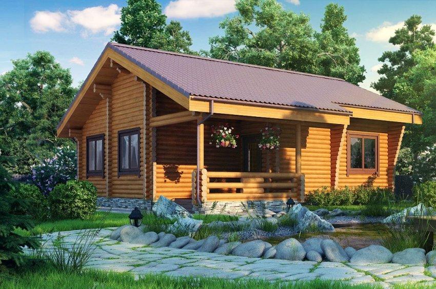 Важное преимущество постройки дома из брусьев - его недорогая стоимость