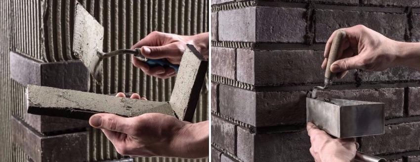 Для укладки керамического кирпича или клинкерной плитки важно использовать специальные инструменты