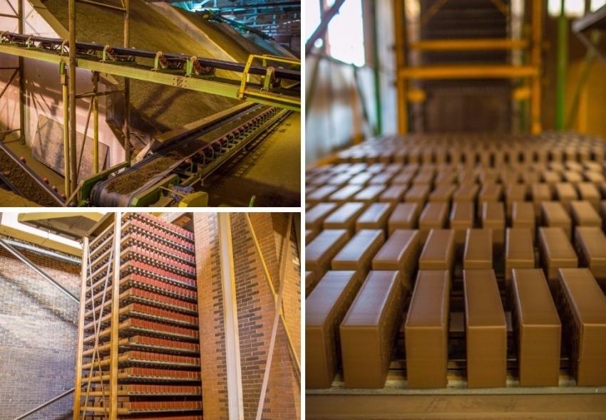 Технология изготовления клинкерного кирпича и плитки на многих заводах не меняется в течении столетия
