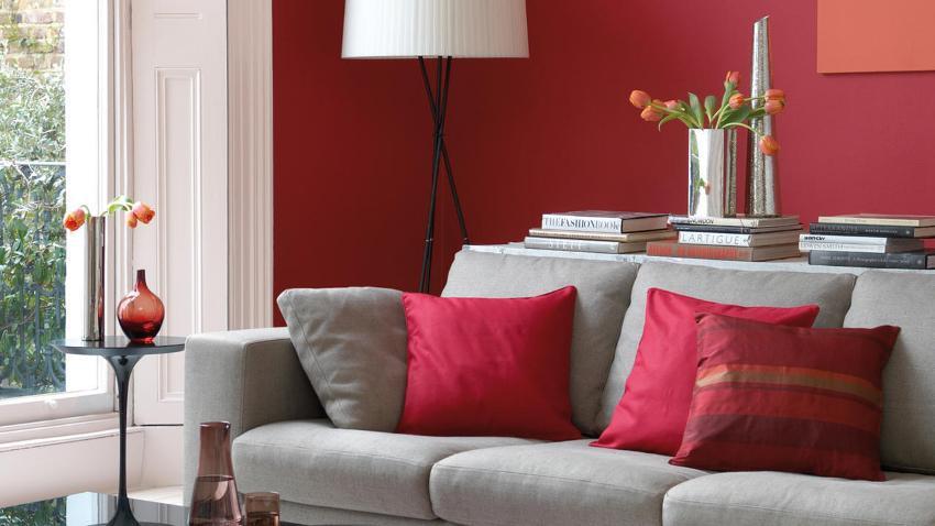 Оригинальное зонирование пространства легко осуществить с помощью покраски обоев