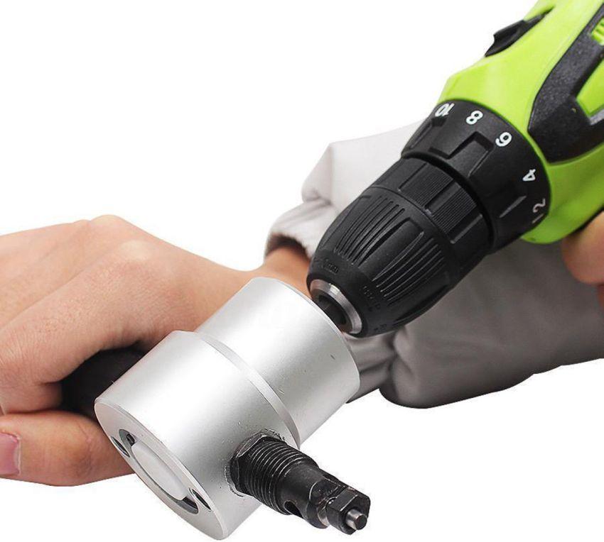 Насадка-ножницы «Сверчок» предназначена для прямо- и криволинейного разрезания листового металла