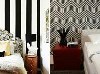 Одним из самых популярных методов отделки является использование черно-белых обоев