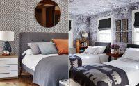 Отделка стен обоями серого цвета требует наличия ярких акцентов в виде деталей интерьера