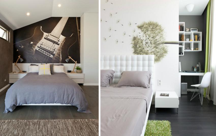 Фотообои могут внести особую атмосферу в интерьер спальни или детской
