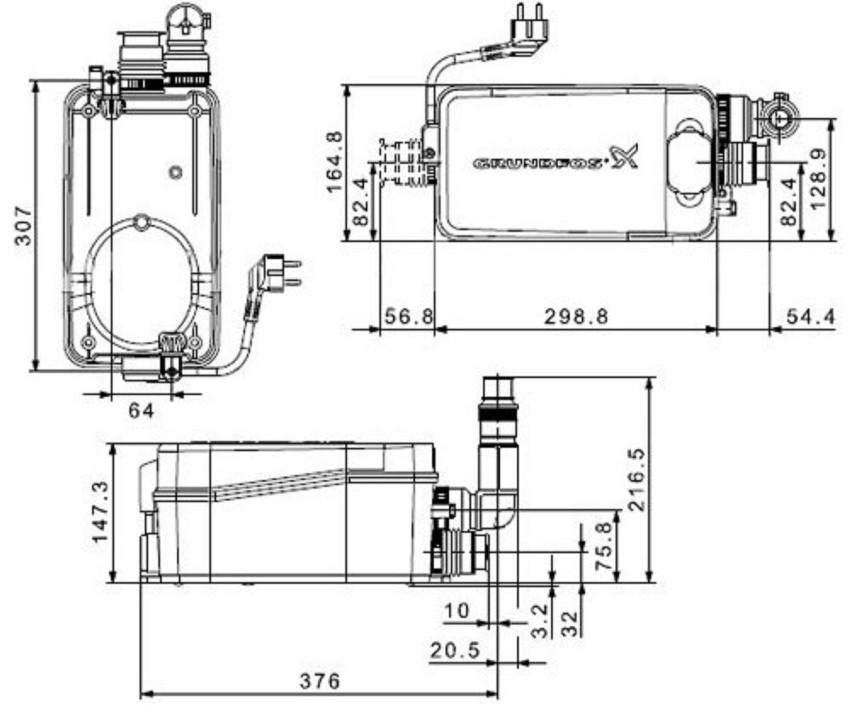 Основные преимущества насосных станций Grundfos Sololift заключаются в простоте установки и легкости обслуживания
