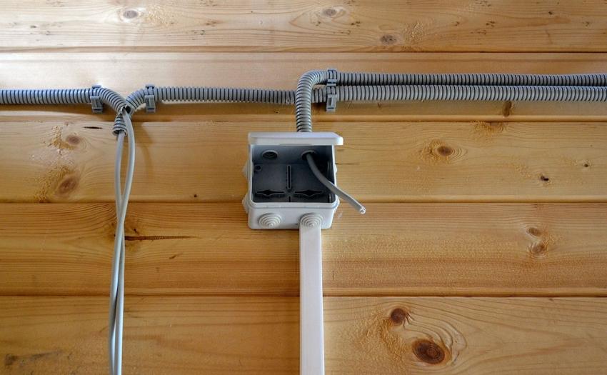 При проведении электричества в бане, все провода должны быть изолированы, чтобы предотвратить негативное влияние конденсата влаги