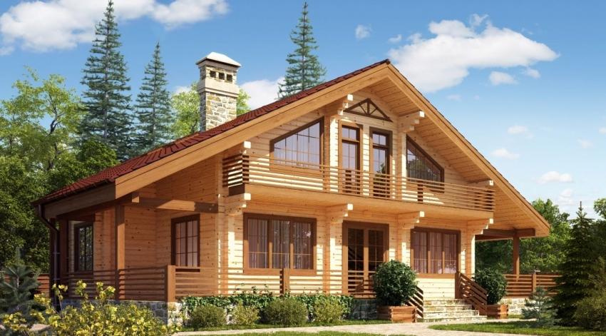 Строительство двухэтажного дома из бруса требует тщательных расчетов для того, чтобы постройка была безопасной и имела длительный срок эксплуатации