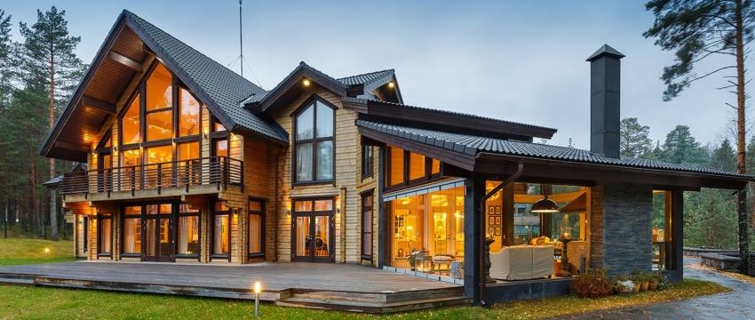 Финская технология строительства дома предполагает использование бруса, изготовленного по особой технологии