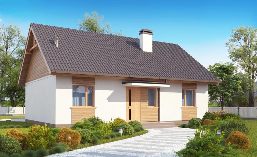 3D проект одноэтажного дома из профилированного бруса от компании «Домабрус»