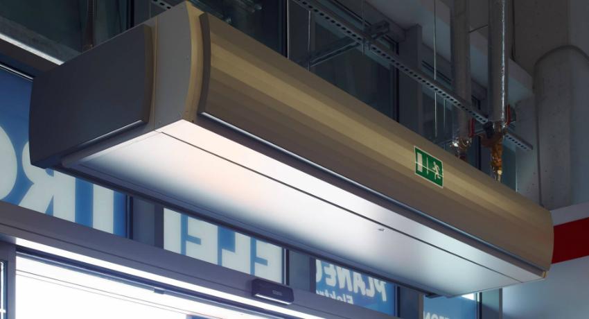 Тепловая завеса имеет систему защиты, которая предохраняет устройство от перегрева