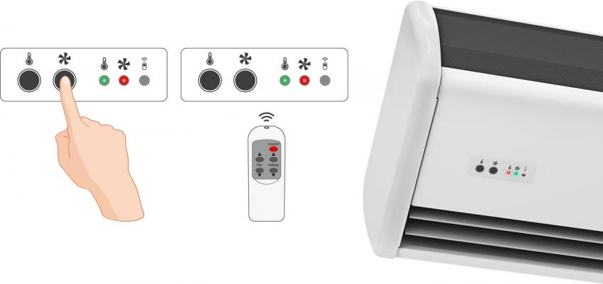 Воздушно тепловые завесы могут иметь как ручное, так и дистанционное управление