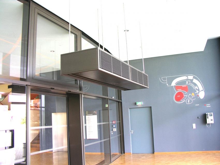 Размер и вариант установки тепловой завесы необходимо выбирать исходя из параметров помещения