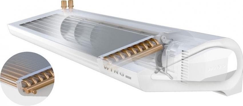 Двурядный водяной нагреватель имеет высокую производительность, что позволяет использовать устройство для больших помещений