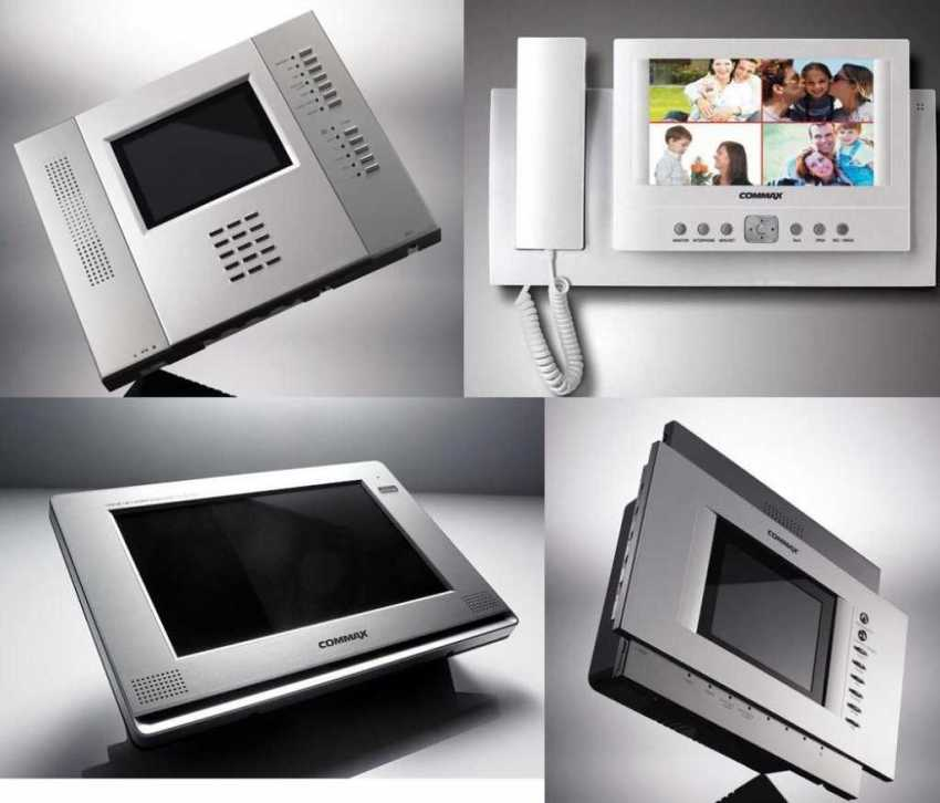 Варианты моделей видеодомофонов компании Commax