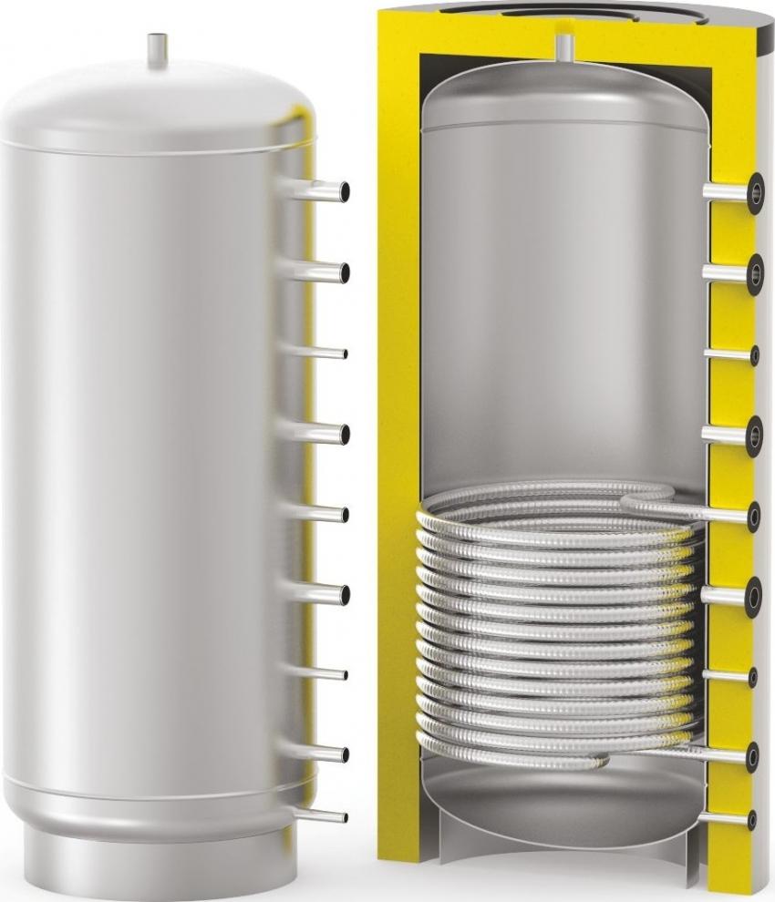 Теплоаккумулятор используется для поддержания нагретой до определённой температуры воды