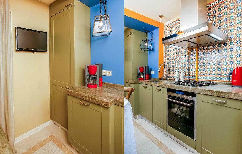 Правильный оттенок гарнитура для небольшой кухни можно подобрать, используя круг сочетания цветов