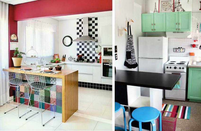 Правильный оттенок кухонной мебели для небольшой кухни можно подобрать, используя круг сочетания цветов