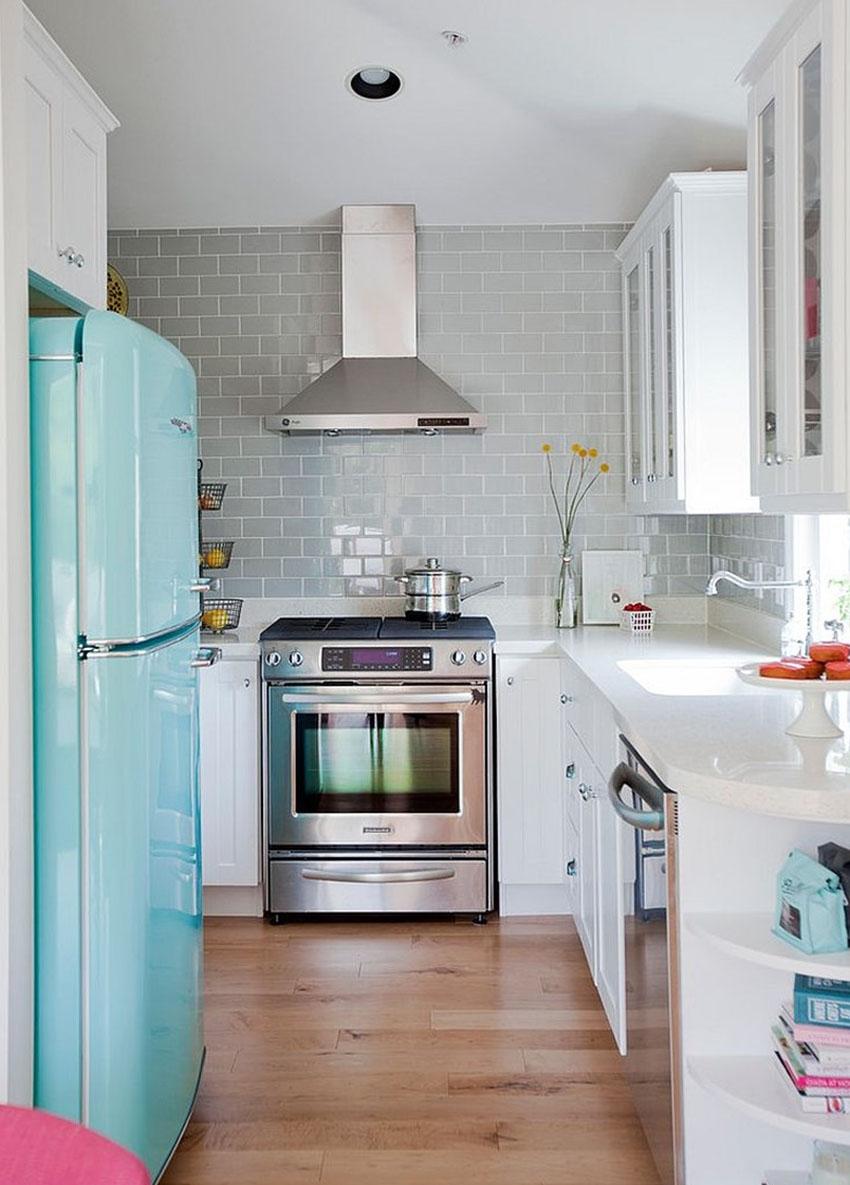 Интерьер и дизайн длинной узкой кухни