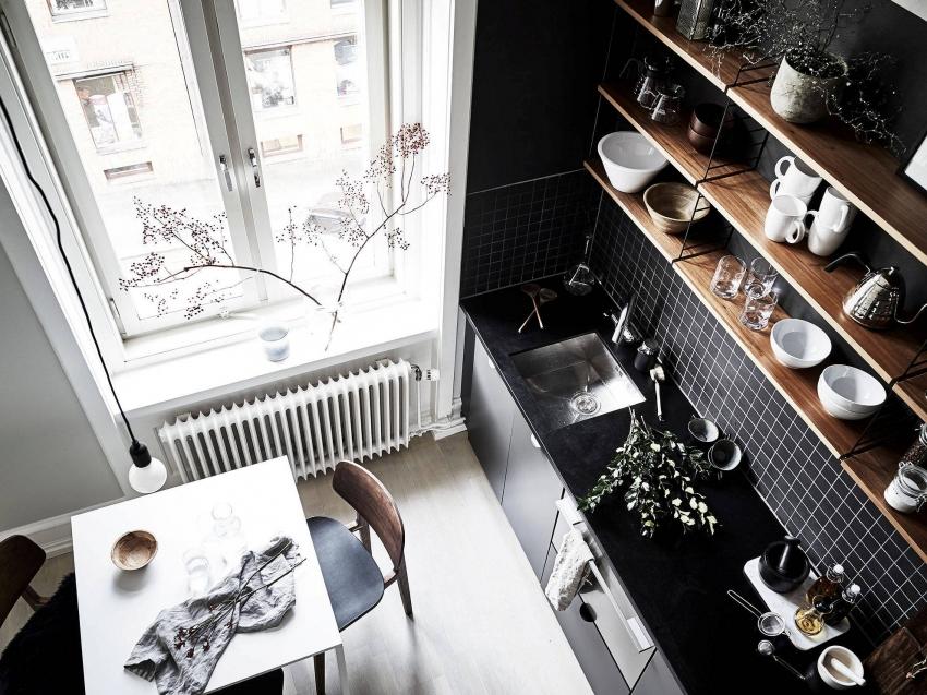 При желании оформить кухню в черно-белых цветах, необходимо правильно выдержать баланс между контрастными оттенками