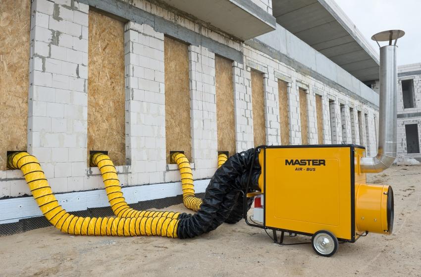 Профессиональная модель теплогенератора на дизельном топливе от компании Master