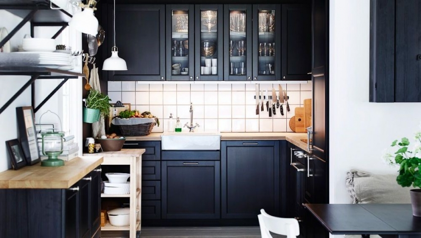 Cuisine noire porte effet soft touch GINKO Noir mat  Oskab