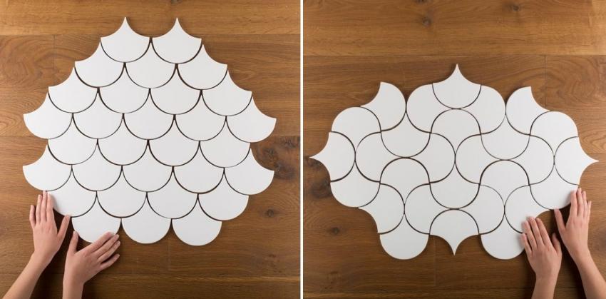 Современные коллекции керамической плитки включают изделия, которые можно комбинировать по-разному, создавая уникальный рисунок