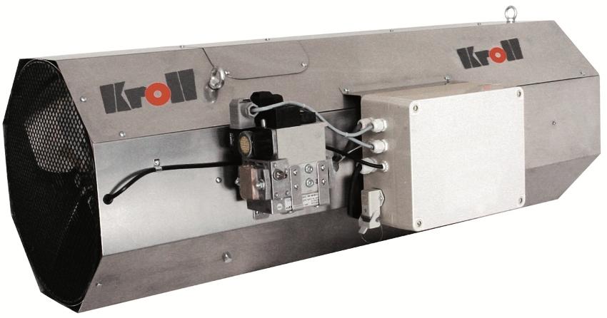Конструкция газовой пушки прямого нагрева достаточно проста: внутри корпуса расположены вентилятор и горелка, которая нагревает воздух, а вентилятор выдувает его в помещение, создавая мощный воздушный поток