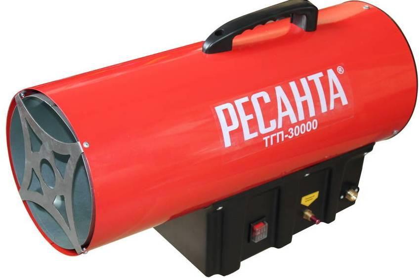 Газовые тепловые пушки отопители, представленные российской компанией Ресанта составили успешную конкуренцию продукции известных мировых брендов