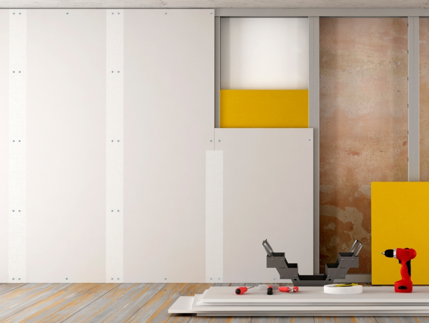 Для обшивки стен, потолка и других типов конструкций используется гипсокартон разной толщины