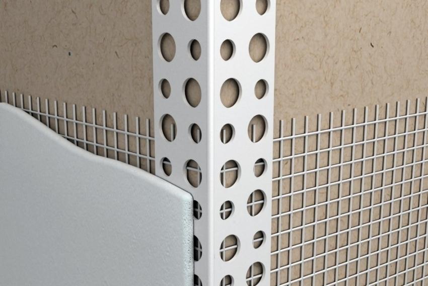 Штукатурные угловые профили используются для фиксации углов гипсокартонных конструкций