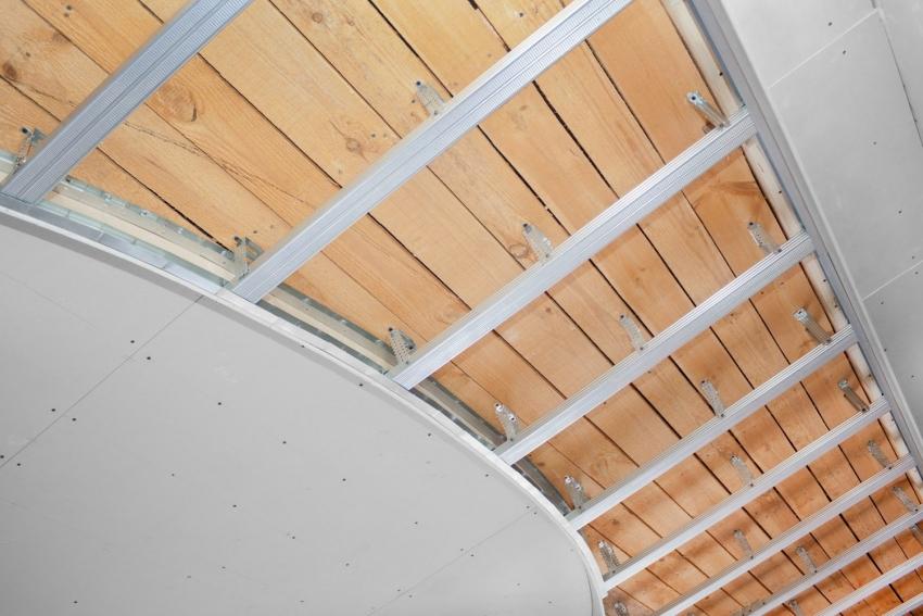 Направляющий профиль используется для монтажа вертикальной стойки для скрепления гипсокартонных листов