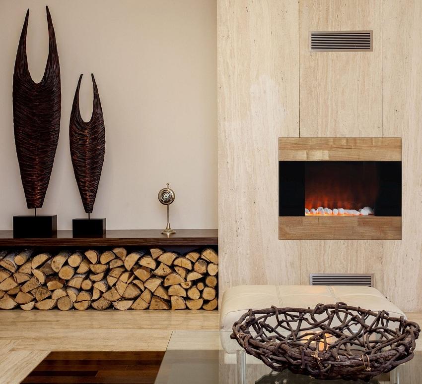 Для облицовки декоративного камина можно выбрать любой материал, независимо от его термоустойчивости