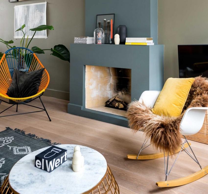 Фальш камин - отличное решение для небольшой квартиры