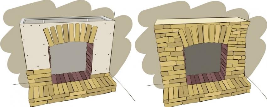 Последним этапом строительства портала является его финальная отделка с помощью декоративного материала - камня, плитки или штукатурки