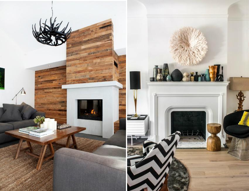 В большинстве случаев камин занимает центральное место в оформлении интерьера комнаты