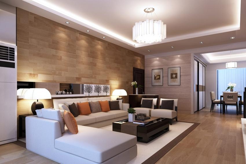 Регулируя освещение, можно зонировать помещение в зависимости от ситуации, выделять и подсвечивать отдельные детали интерьера