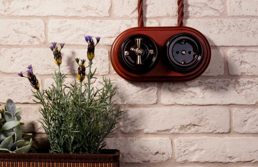 Современные производителя предлагают широкий выбор дизайна розеток с выключателями