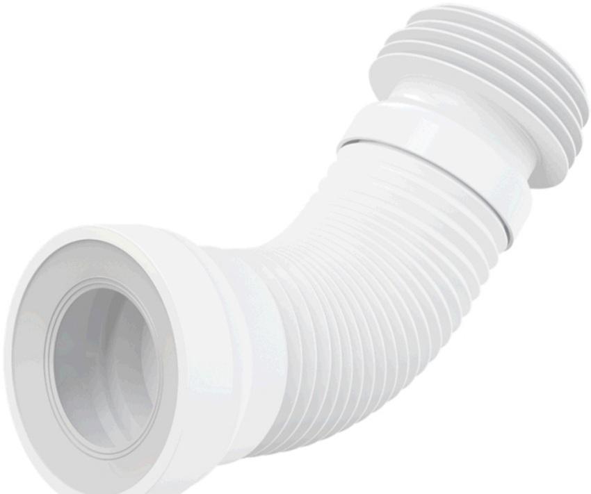 Гофра для подключения унитаза к системе канализации
