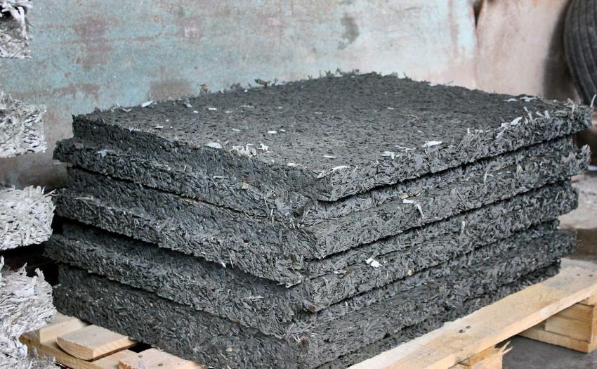 Плиты из арболита могут иметь разный размер и форму