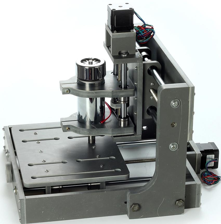 Настольный 3D мини фрезерный станок с ЧПУ легко подключить к компьютеру или ноутбуку