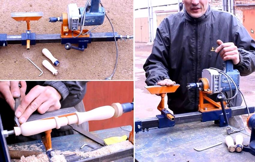 С помощью верстака с прочной и ровной рабочей поверхностью, можно сделать токарный станок из дрели своими руками