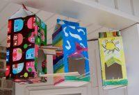 Кормушки-домики из картонных пакетов из-под молока
