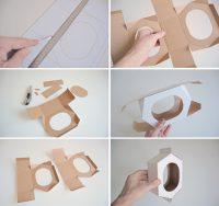 Технология изготовления кормушки для птиц из картона