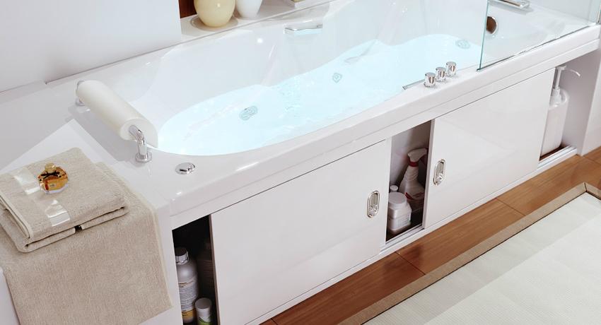 Раздвижной экран под ванну: лучшее решение для малогабаритной ванной комнаты