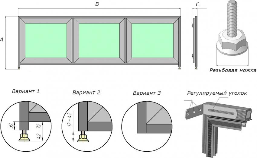 При выборе размера экрана для ванны важно учитывать длину и ширину всех элементов, таких как ножек, уголков и дверей