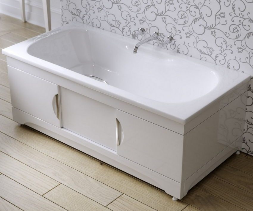 Раздвижной экран может быть установлен на любой тип и размер ванны