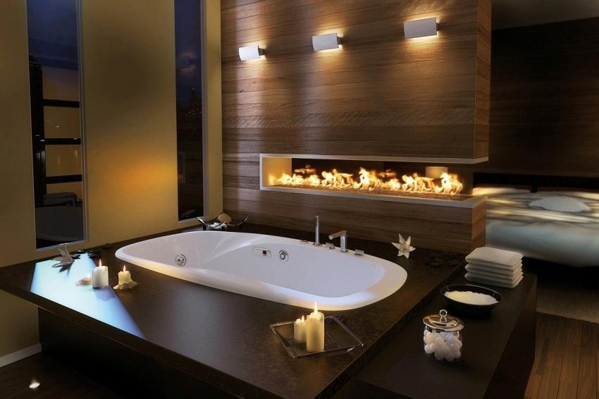 Комфорт приема банных процедур в ванне большого размера обычно повышается за счет антискользящего дна, позволяющего не только увеличить уровень безопасности, но и лучше расслабиться после тяжелого дня