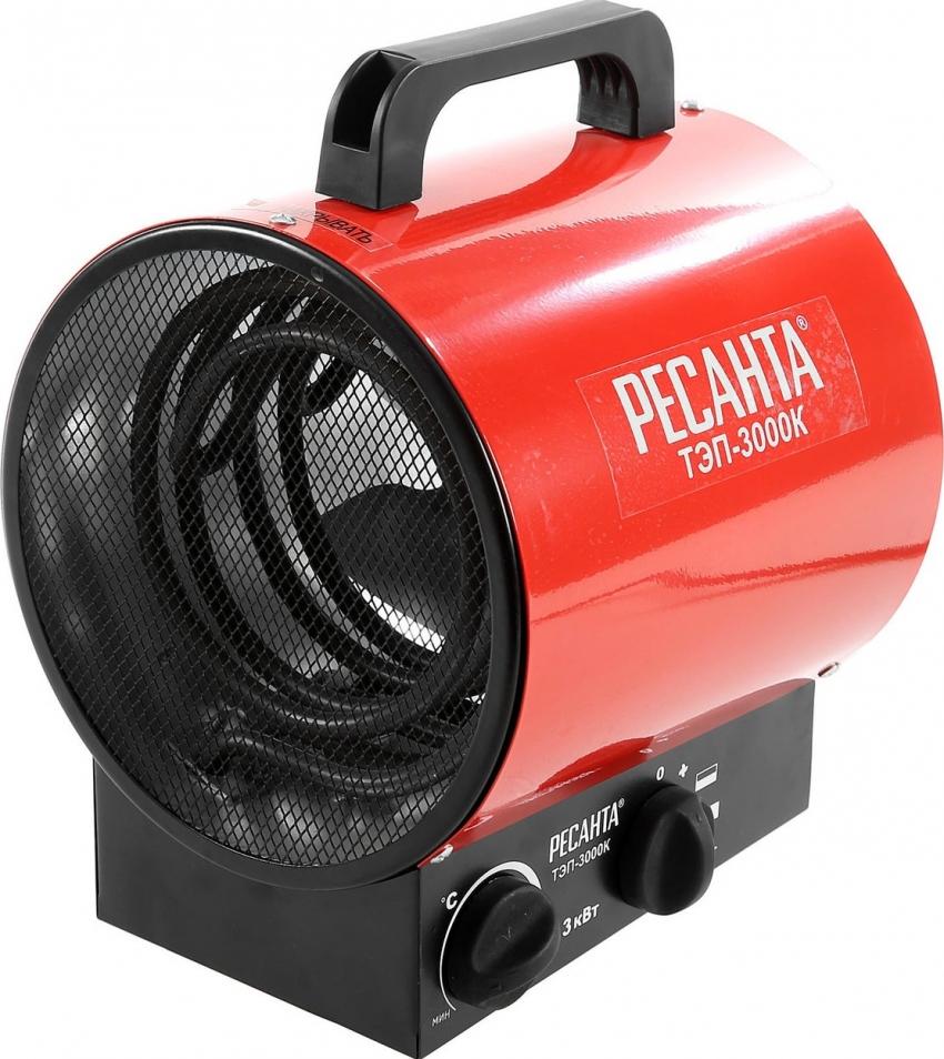 Ресанта ТЭП-3000К используется для обогрева гаражей и других помещений нежилого типа